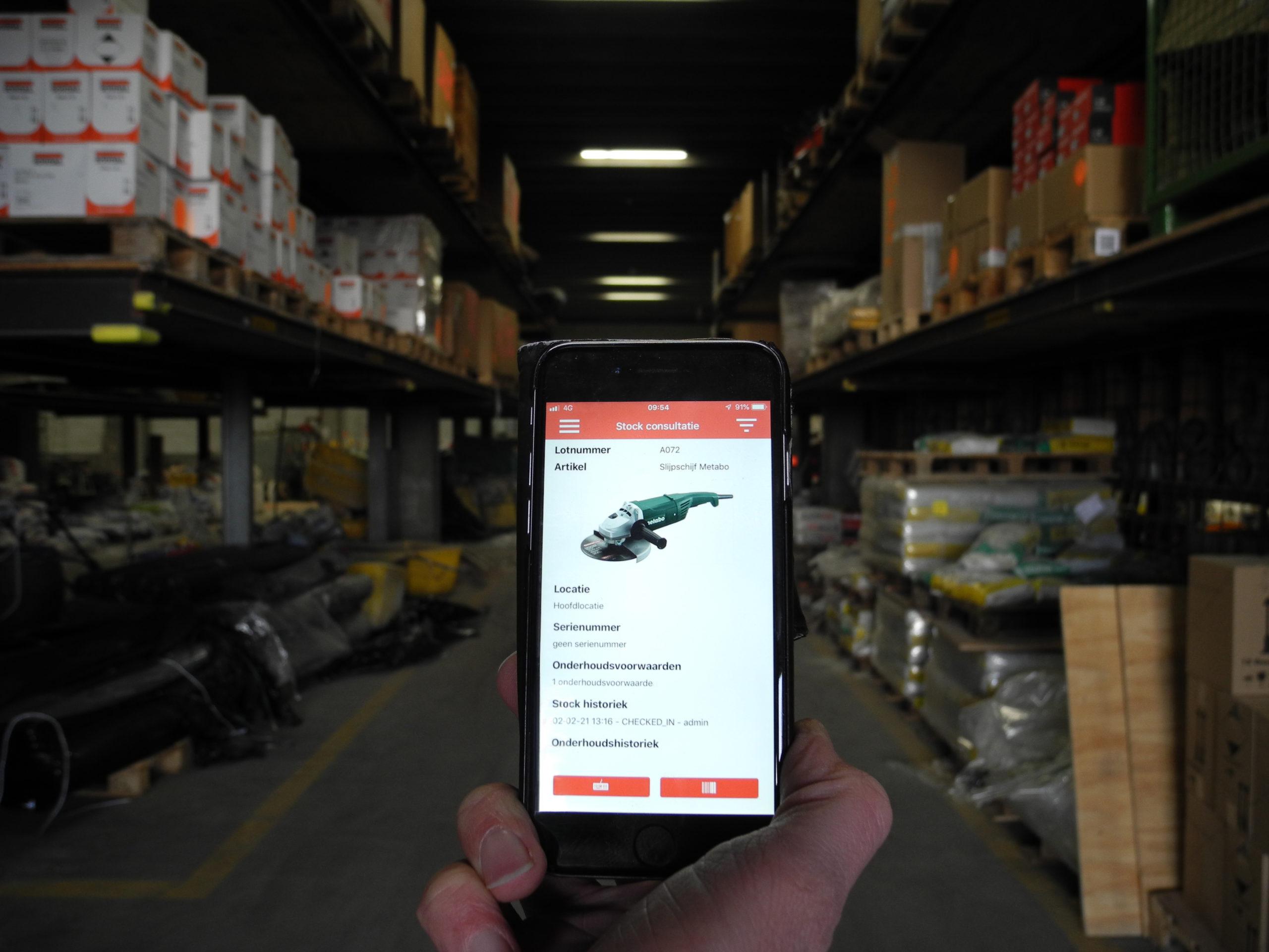 scanner voor stockbeheer