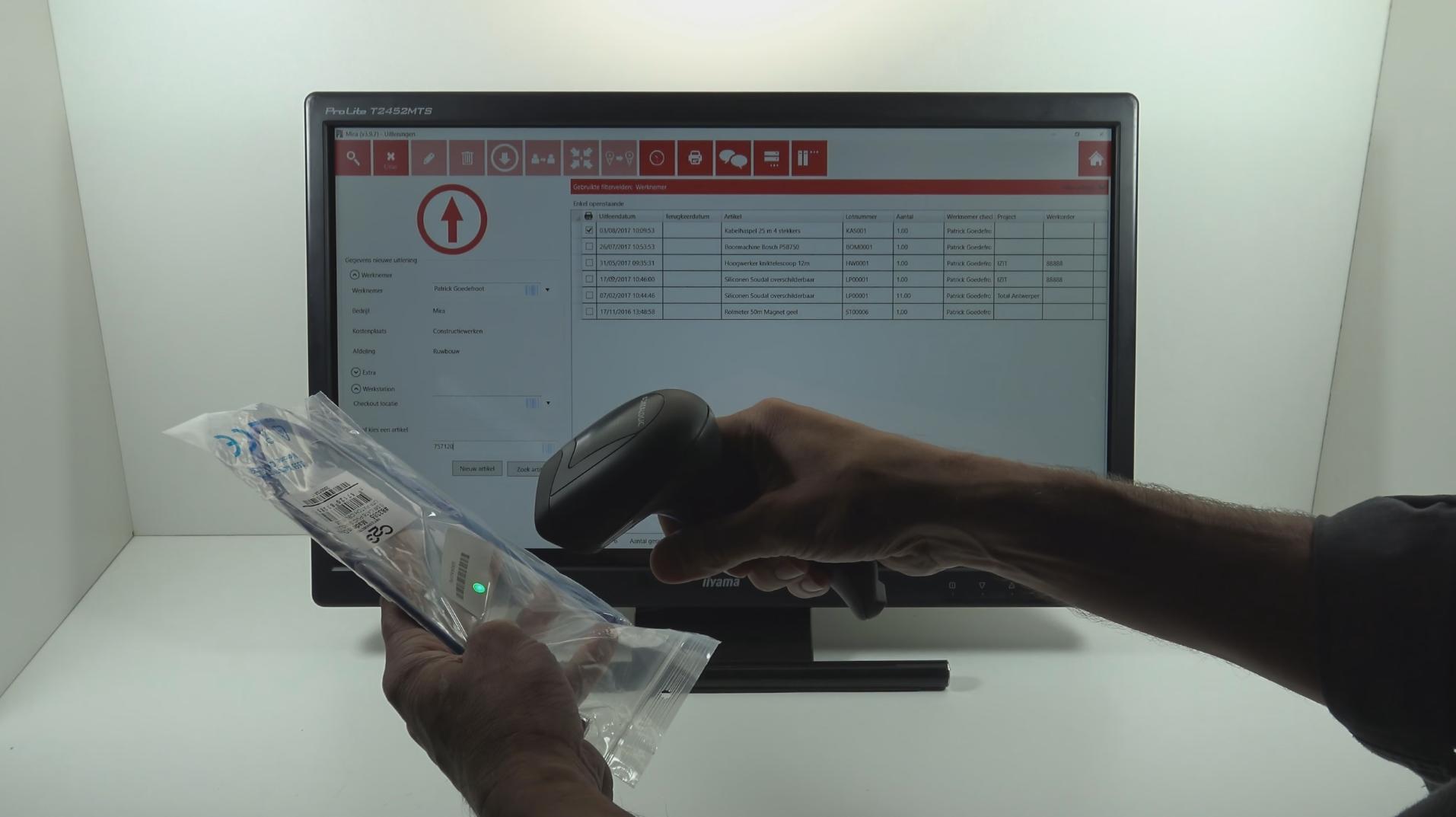material management via scanning